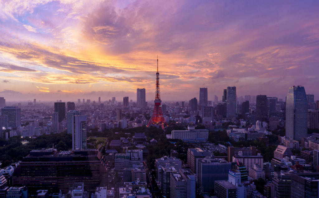 Tokyo Tower skyline