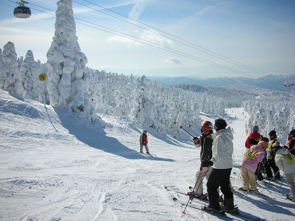 skiing in japan in the winter