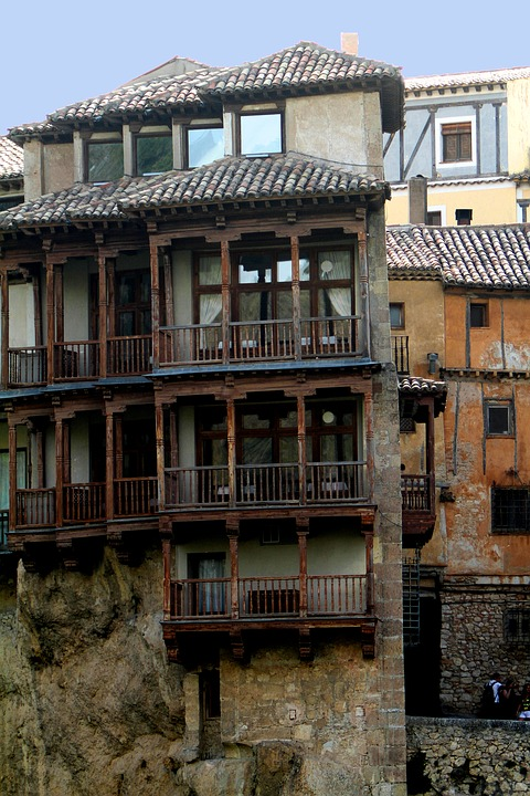Cuenca's Hanging Houses on a geography school trip