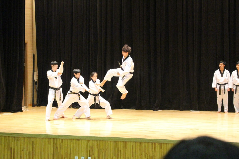 taekwondo on school trip in South Korea