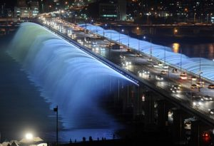 banpo bridge on school trip in South Korea