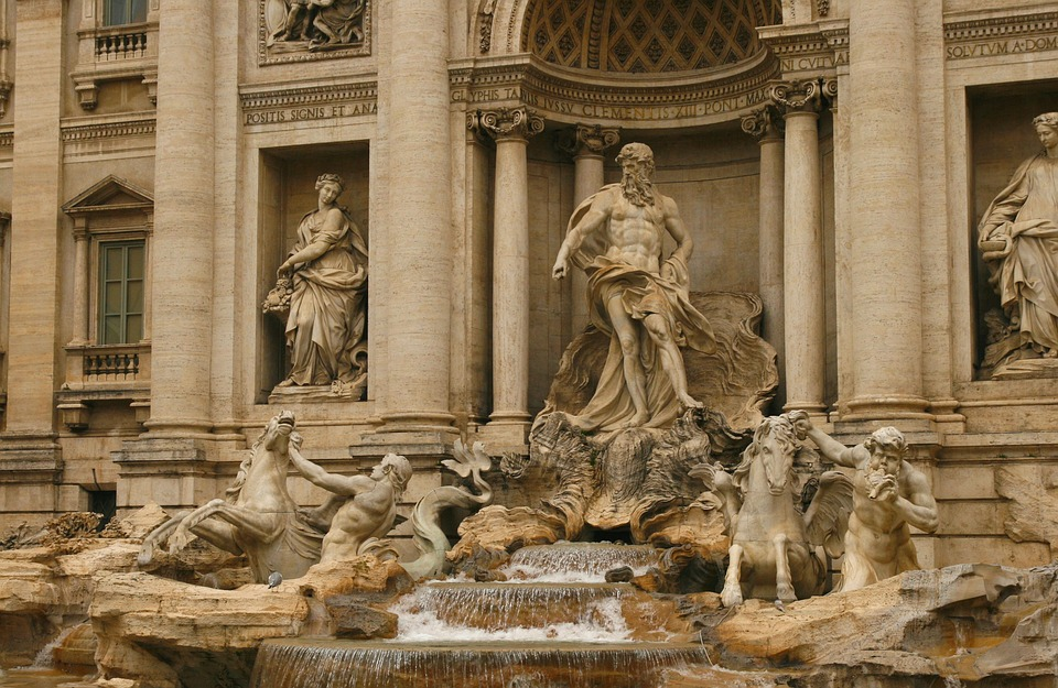 trevi fountain on classics educational program